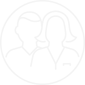 Outlined Cartoon Drawing of a Male and Female nurse