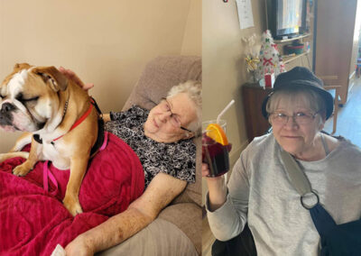 Picture of Elderly Women with her Dog