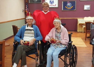 Picture With the Elderly King and Queen