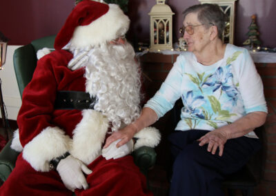 Picture of Elderly Women with Santa