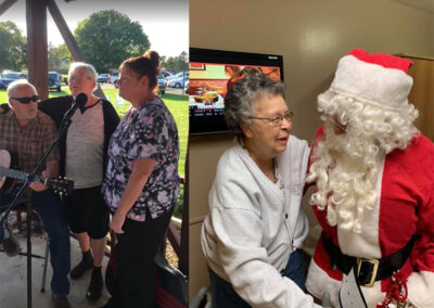 Picture of Elderly Woman With Santa