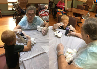Pictures from Tie Dye Shirt Making