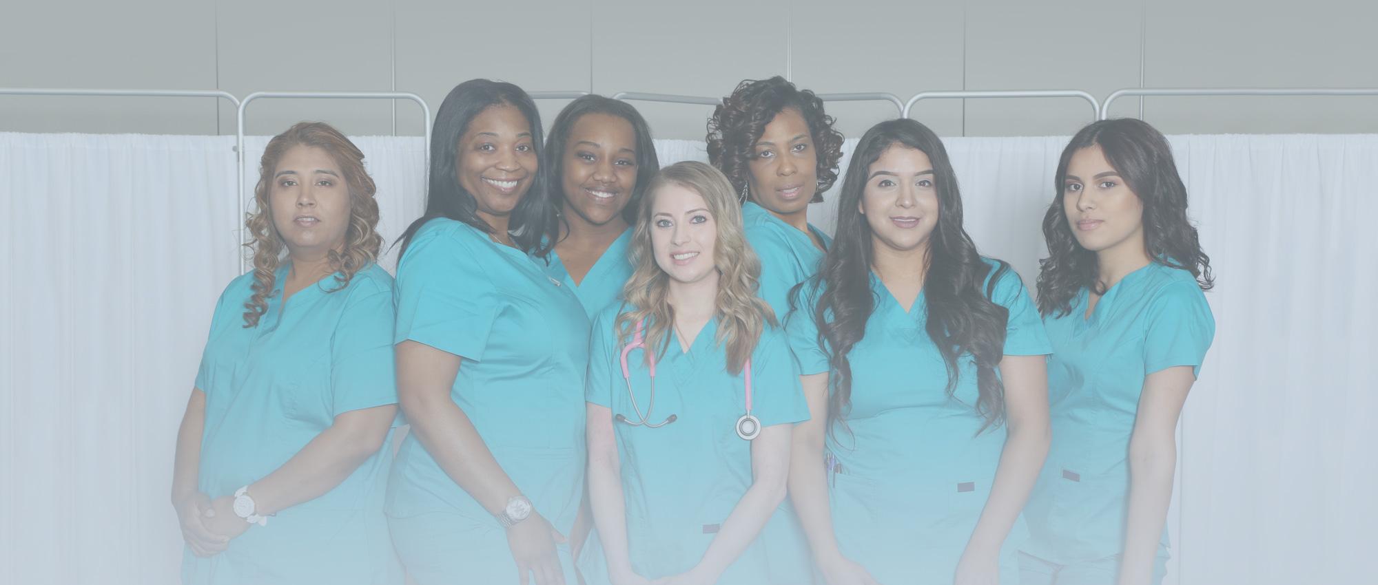 Group of Smiling Female Nurses