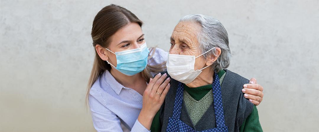 A Dietician Assesing an Elderly man