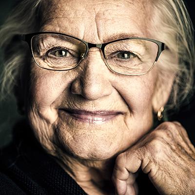 Elderly Women Smiling
