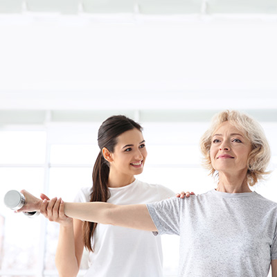 Elderly Women in Physical Therapy