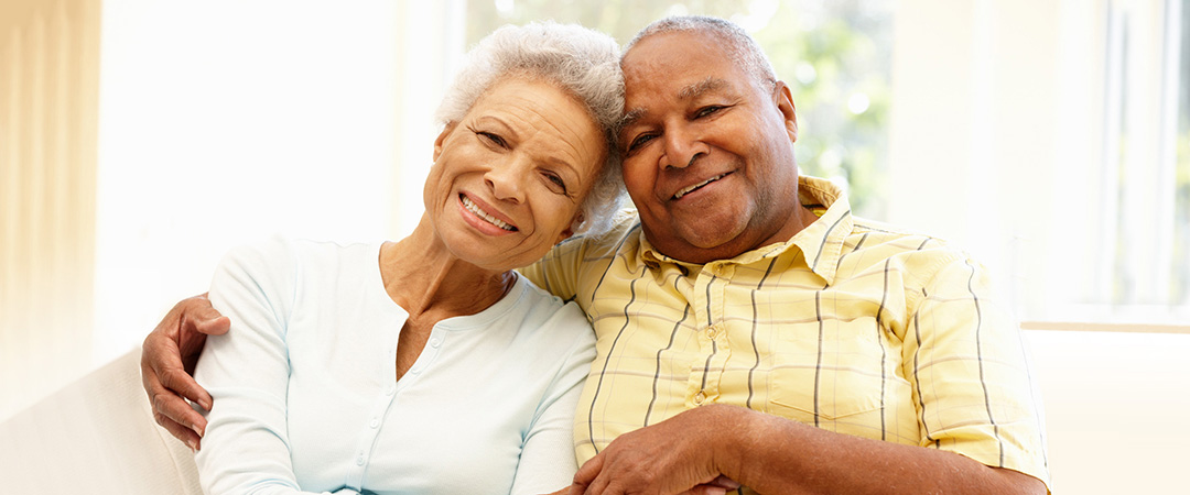 Elderly Man and Women Smiling