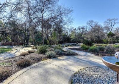 Quiescence Care home outdoor gardens